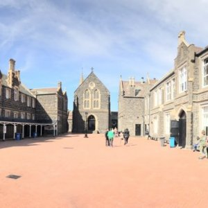 College Forecourt Pano